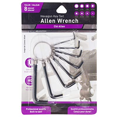 Jacent 8 Piece Hex Allen Wrench Key Set - 1 Pack