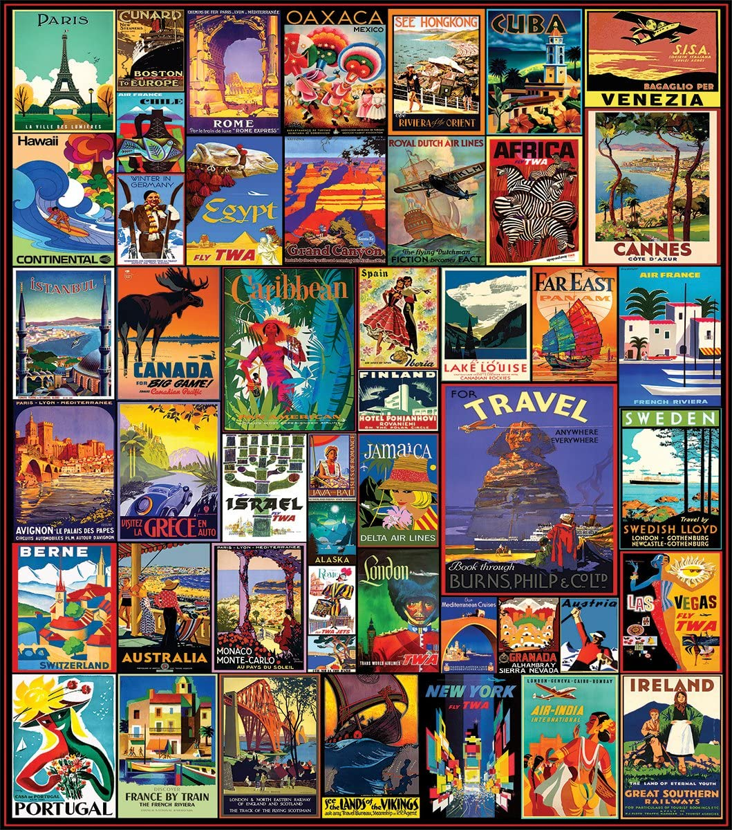 White Mountain Puzzles Travel The World - 550 Piece Jigsaw Puzzle