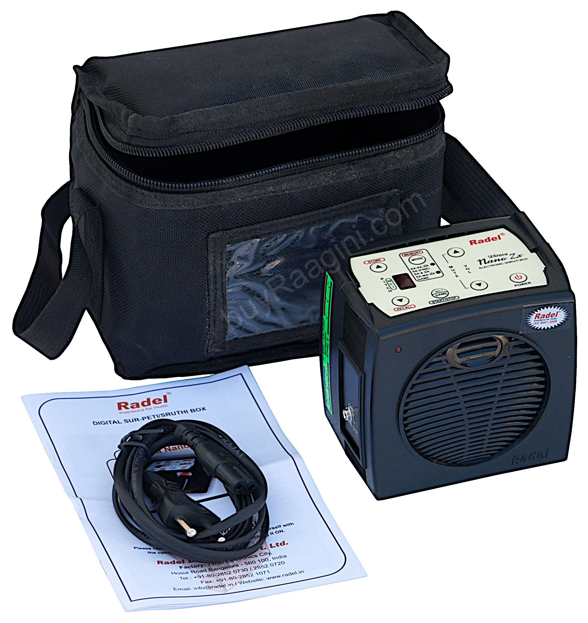 Electronic Shruti Box - RADEL Dhruva Nano Zx Shruti Box, Surpeti, Shruthi Box, Digital Shruti Box, Bag, Instruction Manual, Power Cord (PDI-AFJ)