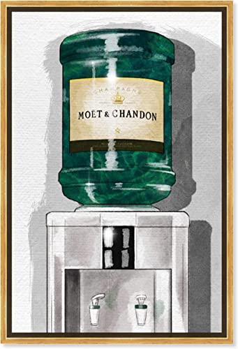The Oliver Gal Artist Co. Drinks and Spirits Framed Wall Art Canvas Prints Days' Champagne Home D cor