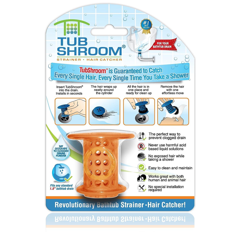 Amazon.com: TubShroom. The Revolutionary Tub Drain Protector Hair ...