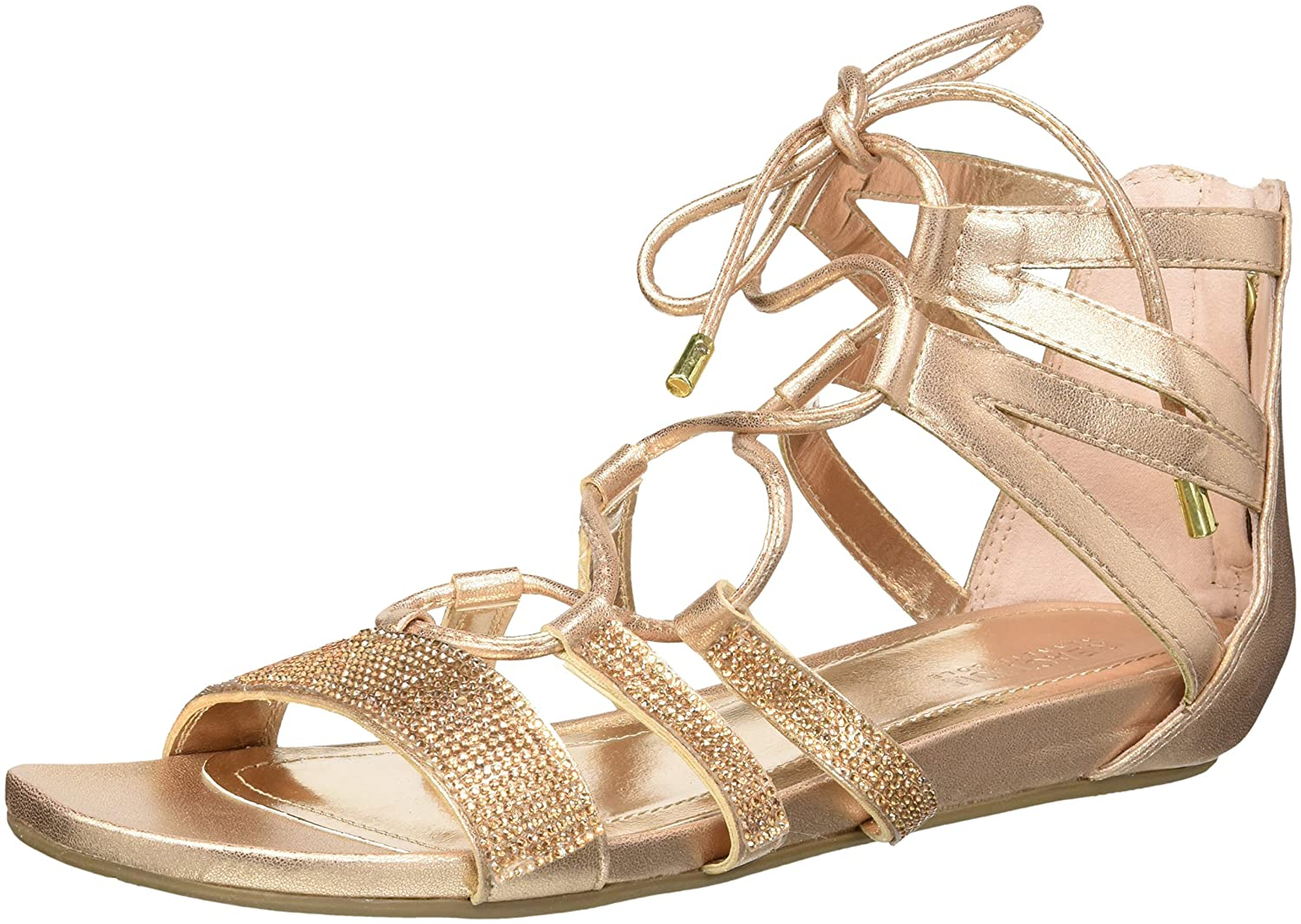 Women's Gold Gladiator Lace-Up Sandal by Kenneth Cole - DeluxeAdultCostumes.com