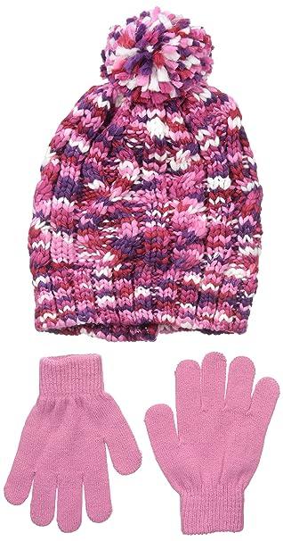 6b54f4fd Amazon.com: Nolan Gloves Girls' McKenna Chunky Knit Beanie and Glove ...
