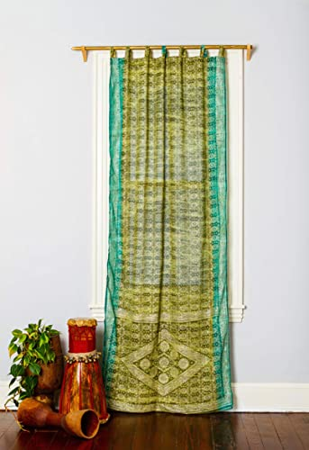 Colorful Window Treatment Draperies Indian Sari Panel 108 96 84 inch