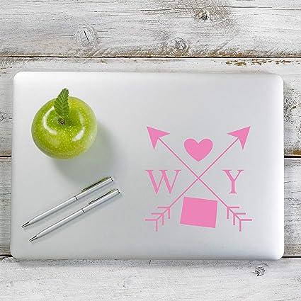 Laptop # 1115 Wyoming Love Cross Arrow State  WY Decal Sticker for Car Window