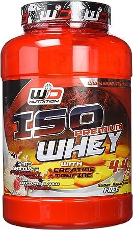 WD Proteina, chocolate blanco y frambuesa - 2000 gr: Amazon ...