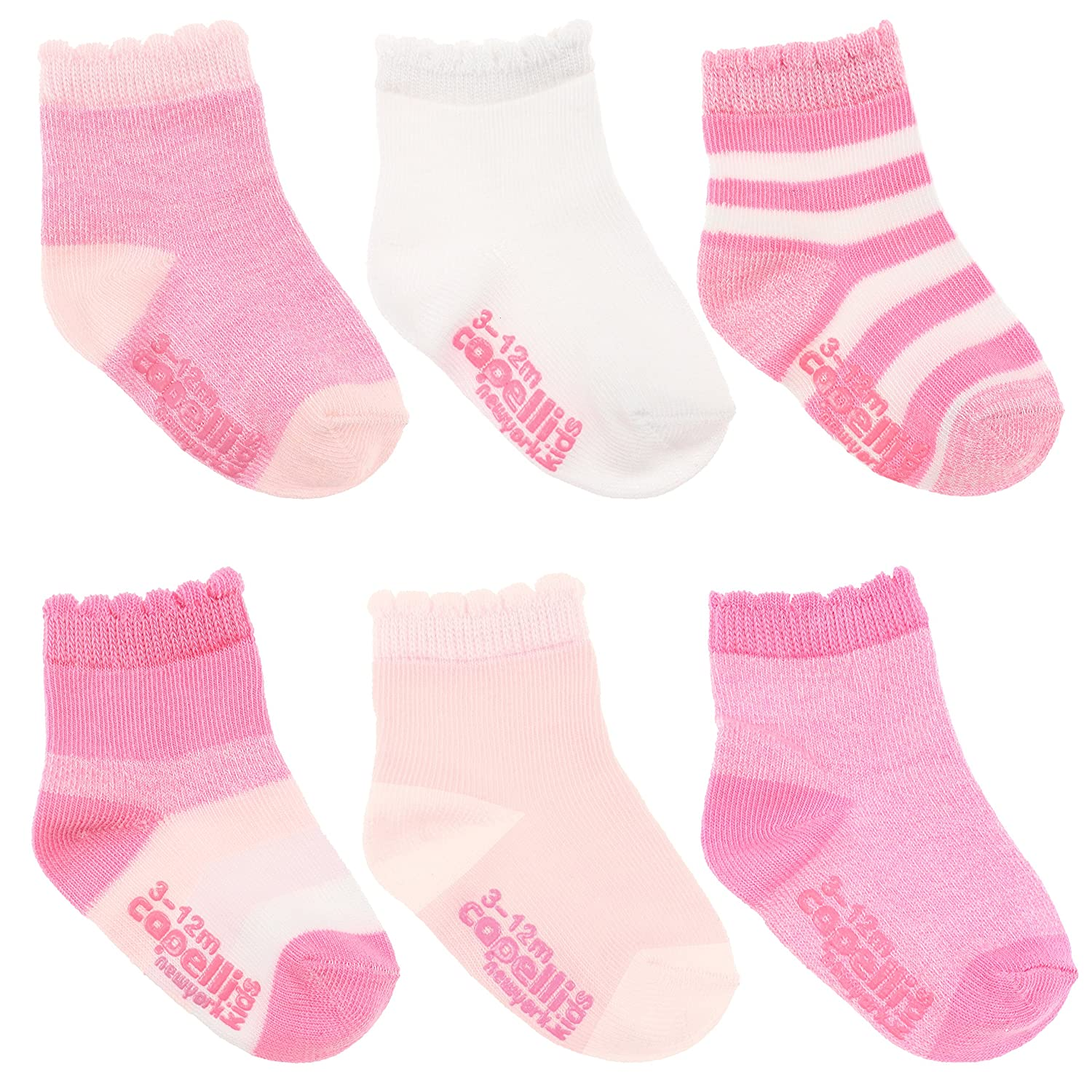Capelli New York Infant Girls Cuffed Socks and Grippers