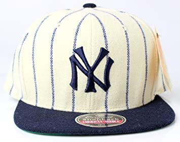 966b1a2990560 Image Unavailable. Image not available for. Colour  New York Yankees MLB  American Needle 1921 Vintage Pinstriped Original Snapback Cap