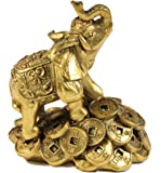 Feng Shui 3 Money Elephant Figurine Wealth Lucky Figurine Gift & Home Decor