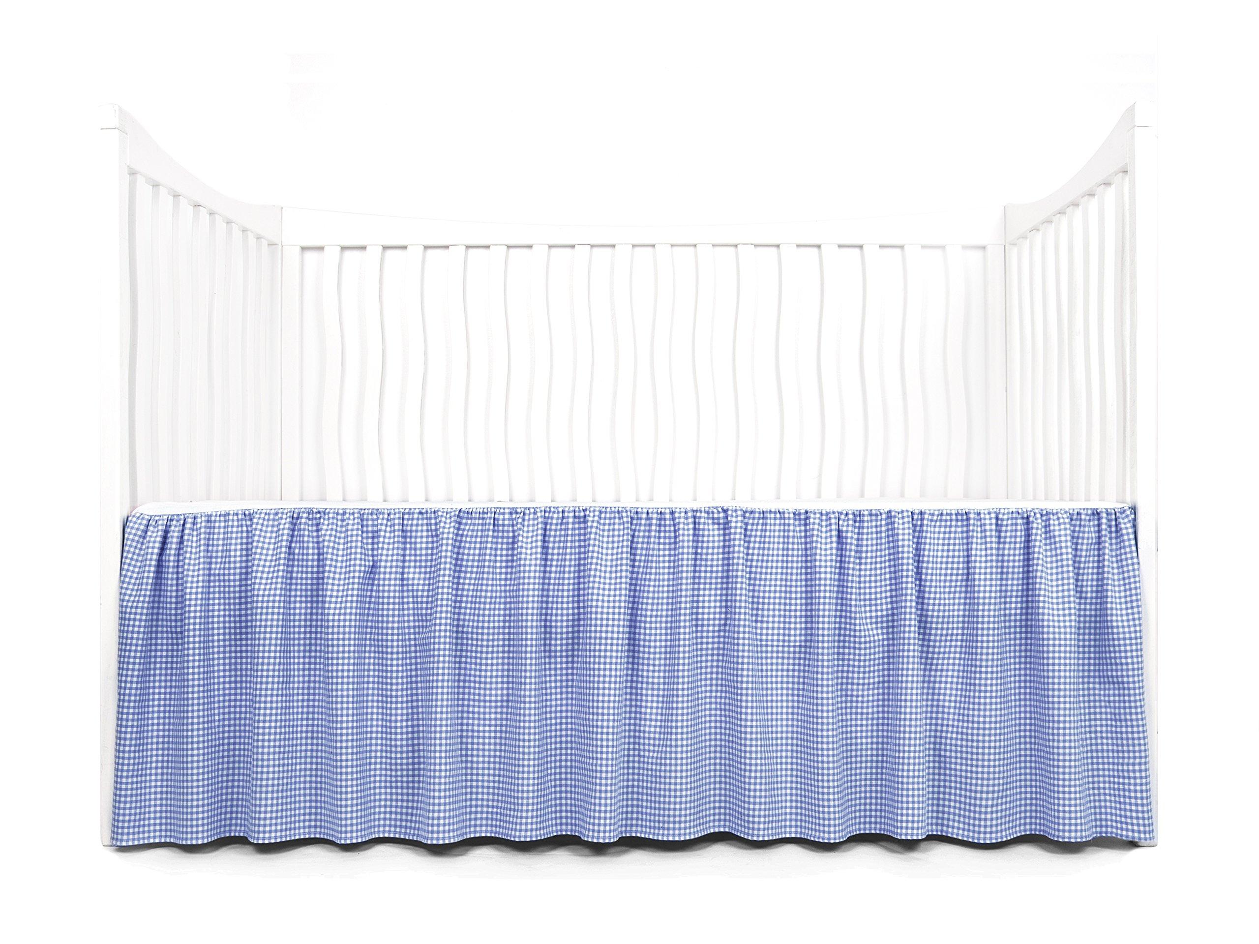 Tadpoles Crib Skirt Classic Gingham, Navy
