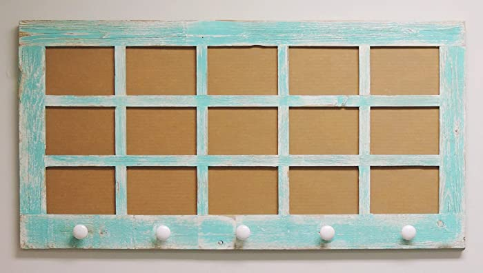 multi picture frame 15 opening 5 x 7 window pane frame with knobs - Window Pane Frame