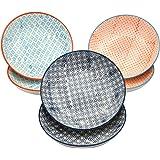 Nicola Spring Patterned Porcelain Pasta Bowls - 3 Designs - Box Of 6
