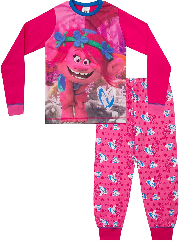Trolls Poppy Pyjamas Girls DreamWorks Pyjama Set PJ 6 to 12 Years