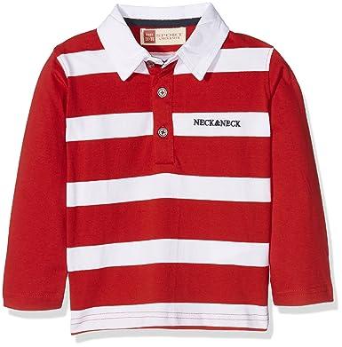 neck & neck Rugby NIÑO-16I08204 Polo, Rojo 40, 10A para Niños ...