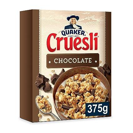 Quaker Cruesli Copos de Cereales Crujientes con Chocolate - 375 g