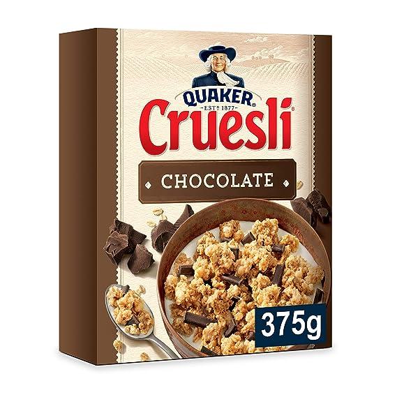 Quaker Cruesli Copos de Cereales Crujientes con Chocolate - 375 g: Amazon.es: Amazon Pantry