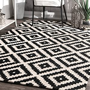 nuLOOM 200MTVS174A-203 Wool Rug, 2' x 3', Black