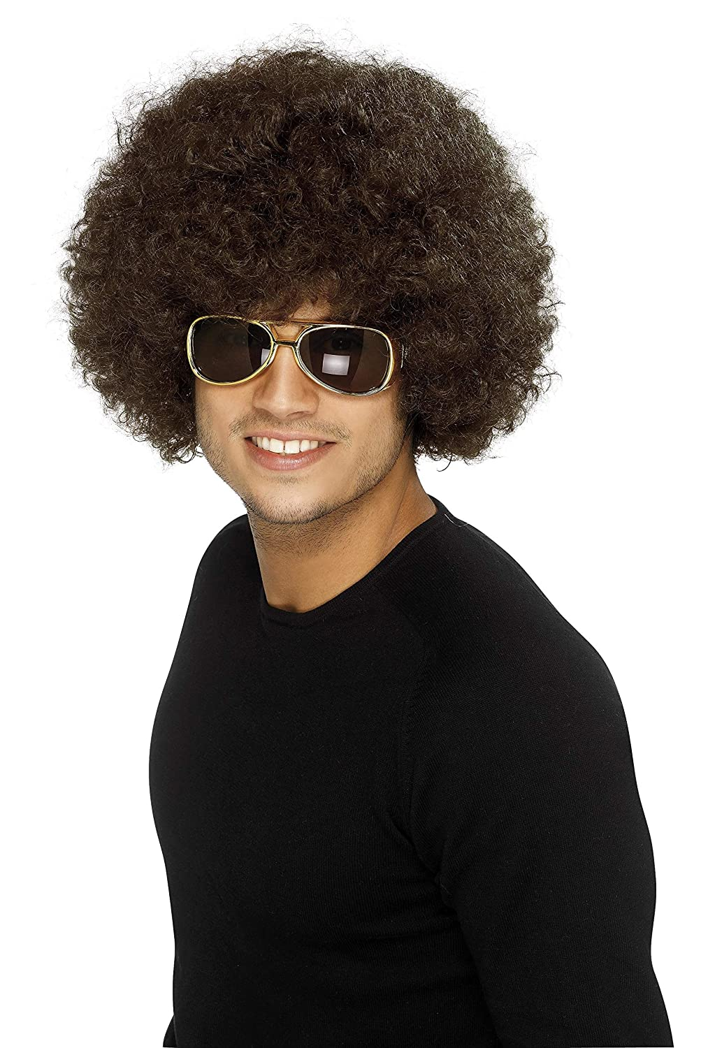 Smiffy's Adult Unisex 60's and 70's Funky Afro Wig One Size 5020570432532 RH Smith & Sons LTD