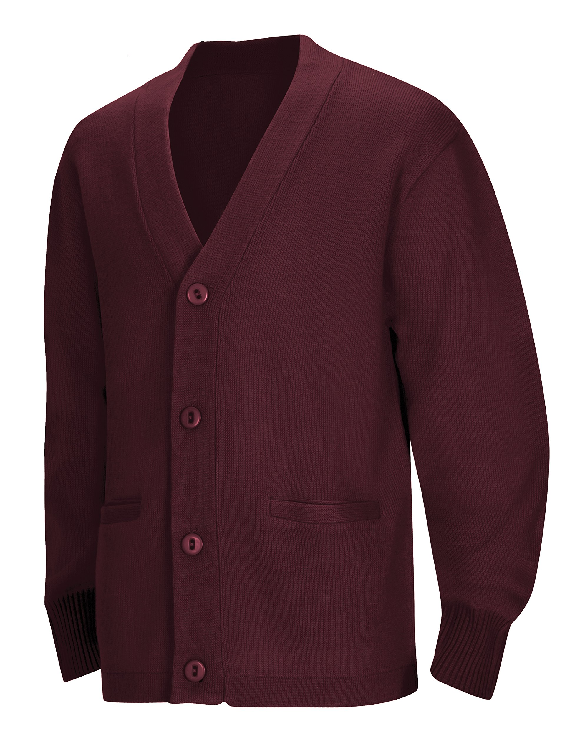 Classroom Uniforms CLASSROOM Big Boys' Uniform Cardigan Sweater, Burgundy, Large