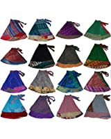 Wevez Women\'s Pack of 5 Plus Size Magic Wrap Sari Skirt, One Size ...