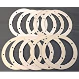 """Pellet Stove 6"""" Round Gasket for Combustion/Exhaust Fan - 10 Pack"""