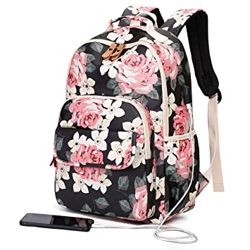 unique design buy sale cozy fresh Back Pack for Girls Teens College, Cute High School Book Bags, Notebook  Laptop Backpack with USB Port (Black)