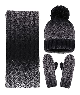 ca532776db4 Arctic Paw Adult 3 Piece Winter Bundle - Beanie Scarf and Mitten Set ...