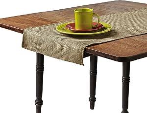 Snap Drape RNRBUR1408H Table Runner, Square Ends, 100% Polyester, 14