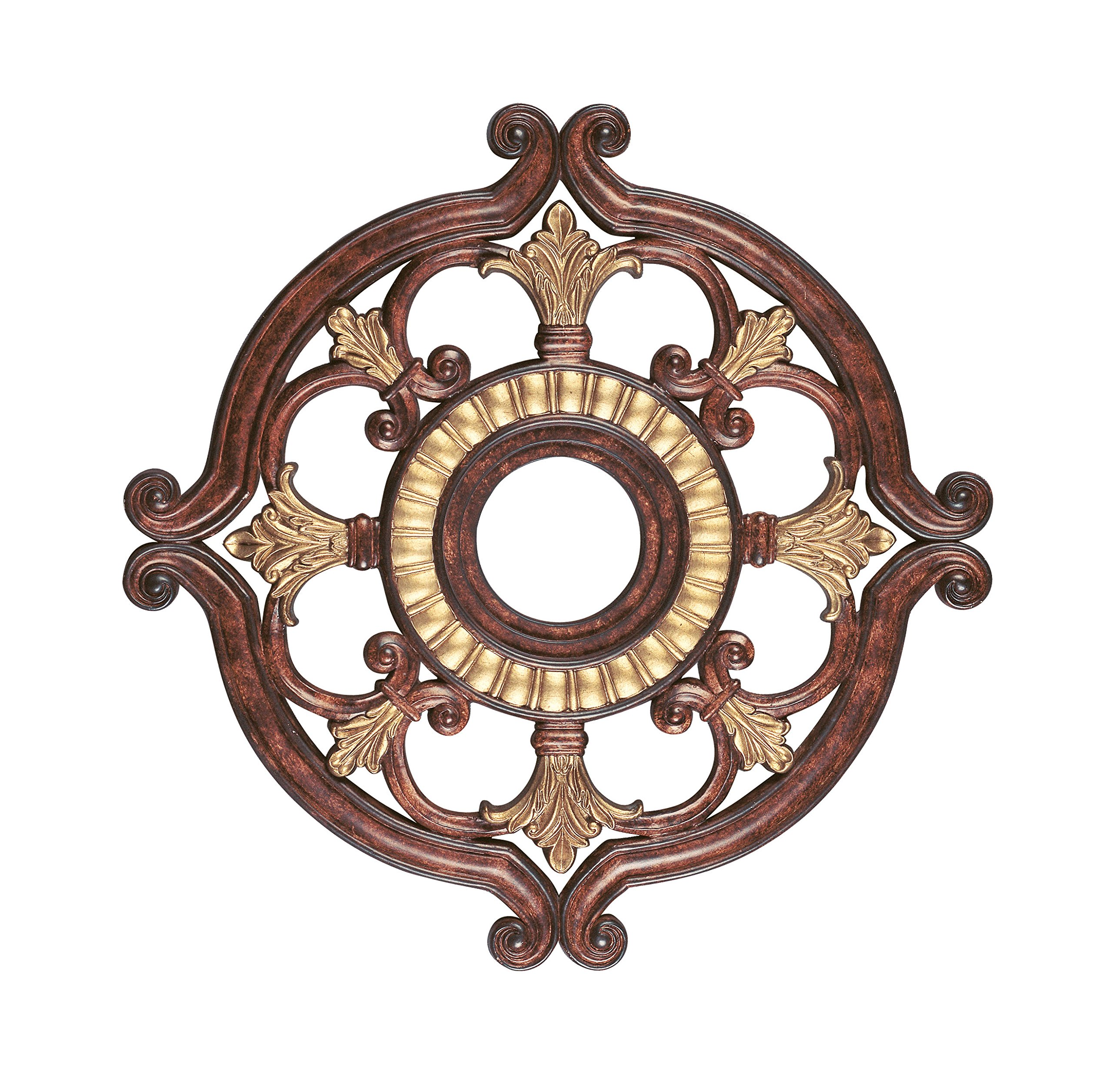 Livex Lighting 8216-63 Ceiling Medallion in Verona Bronze with Aged Gold Leaf Accents by Livex Lighting