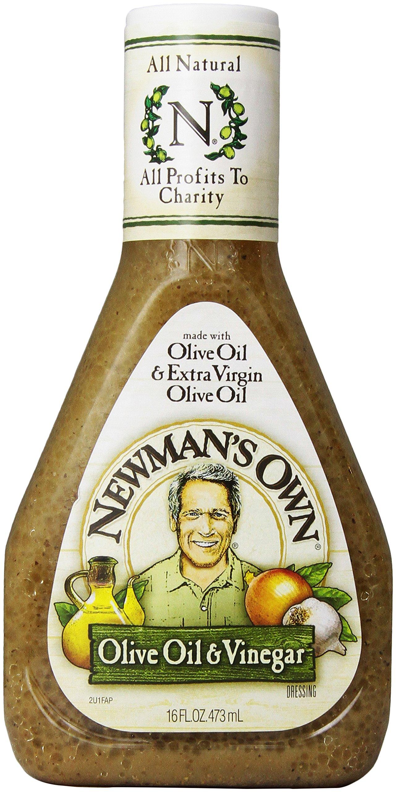 Newman's Own Dressing, Olive Oil & Vinegar, 16 oz