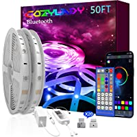 Bluetooth LED Strip Lights 50FT - Cozylady LED Light Strip Controlled by Smart Phone APP - Music Sync LED Lights for…