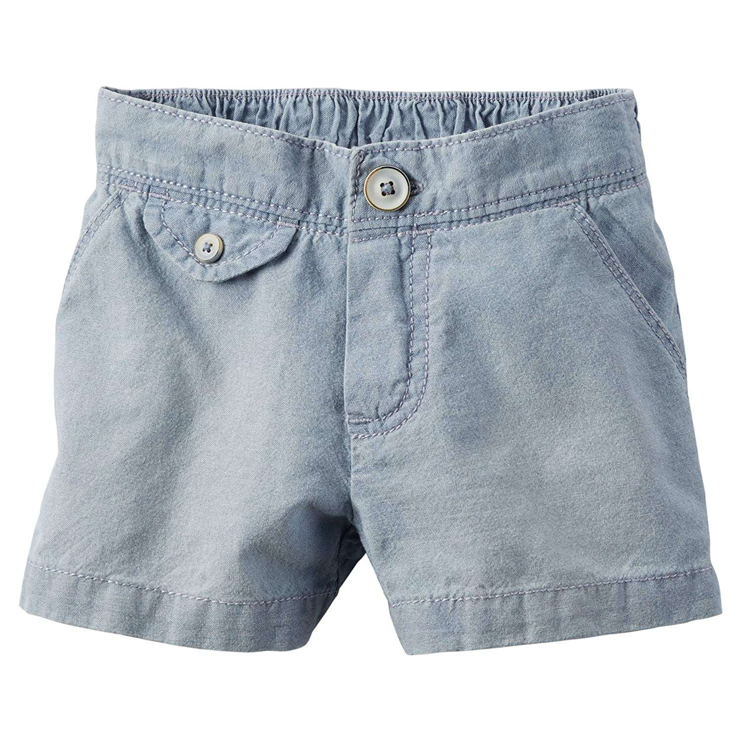 Carters Baby Girls Flap-Pocket Chambray Shorts 24 Months