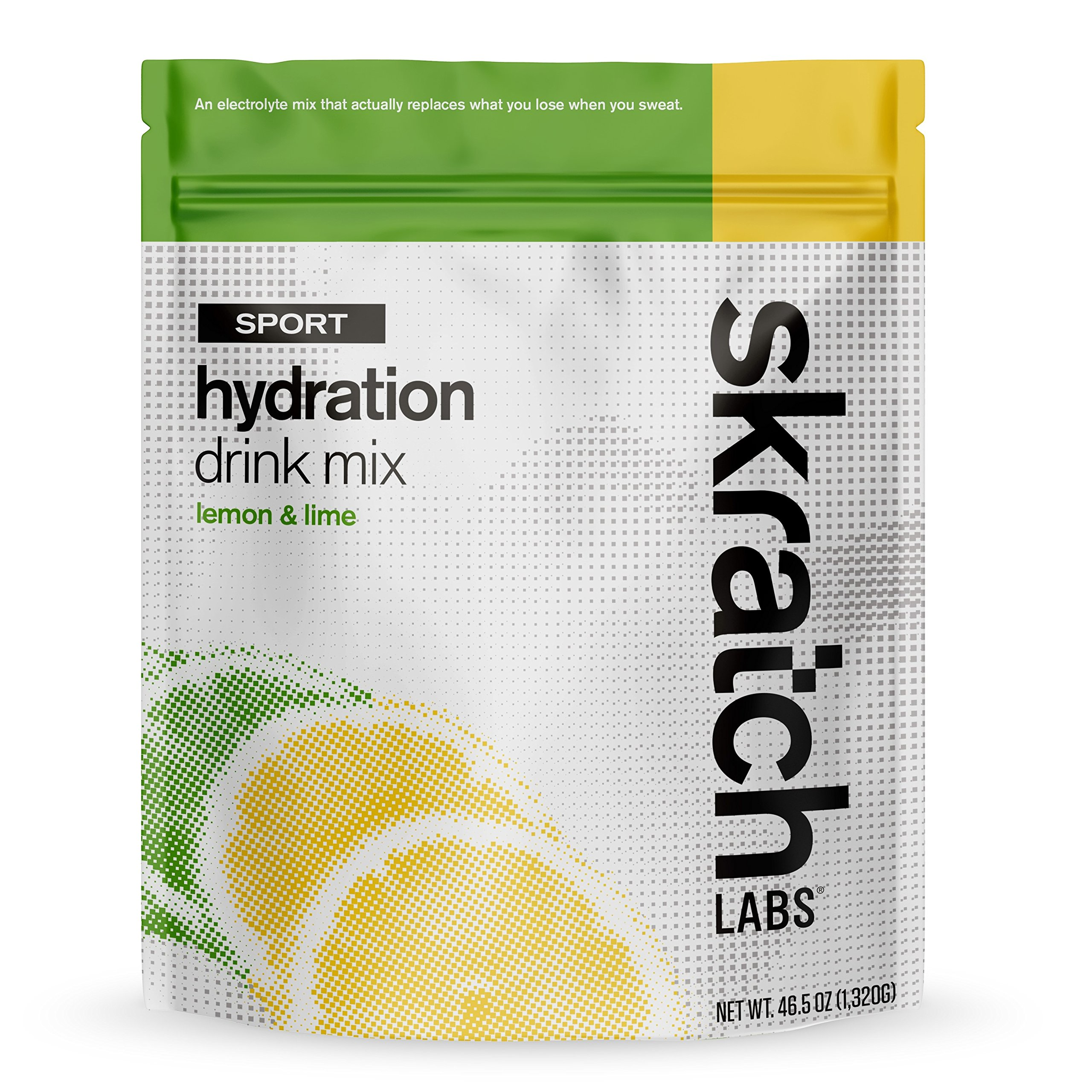 SKRATCH LABS Sport Hydration Drink Mix, Lemon Lime (46.5 oz, 60 servings) - Natural, Electrolyte Powder Developed for Athletes and Sports Performance, Gluten Free, Vegan, Kosher by Skratch Labs
