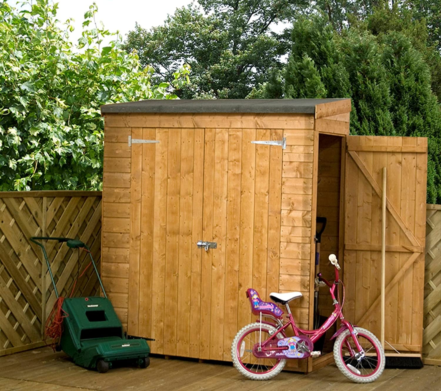 Ft W X Ft D Wooden Lean To Shed Amazon Co Uk Garden