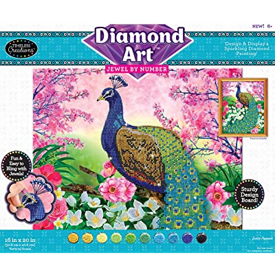 Timeless Creations Diamond Art Jewel by # Peacock 16 X 20: Toys & Games