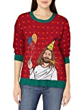 Blizzard Bay Women's Happy Birthday Jesus Ugly Christmas Sweater