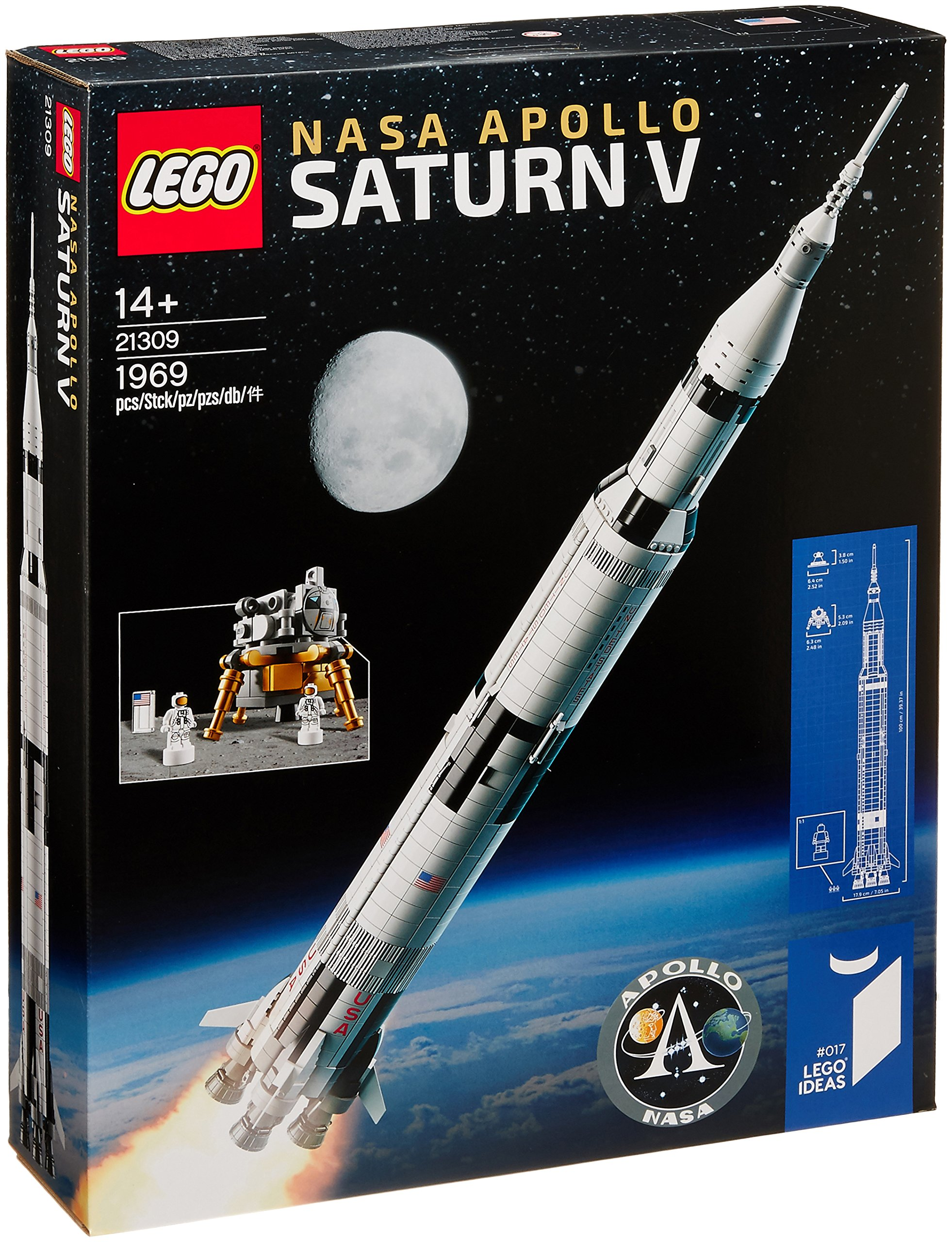 LEGO Saturn V 21309 LEGO Ideas Nasa Apollo Saturn V 21309 Building Kit (1969 Piece) age 14 years and up