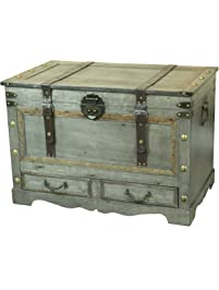 Rustic Gray Large Wooden Storage ...