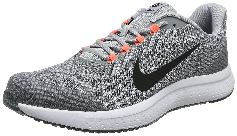 Nike Runallday, Zapatillas de Running para Hombre 44.5 EU|Gris (Wolf Grey/Cool Grey/Hyper Orange/Black 015)