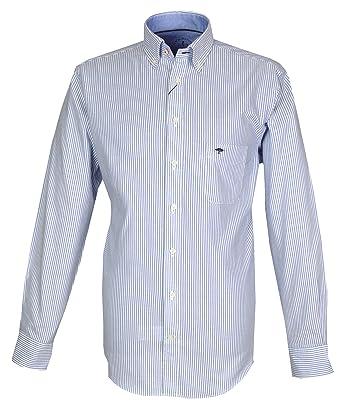 FYNCH-HATTON Herren Freizeit-Hemd Blau Blau Gestreift  Amazon.de  Bekleidung 7969fa4701