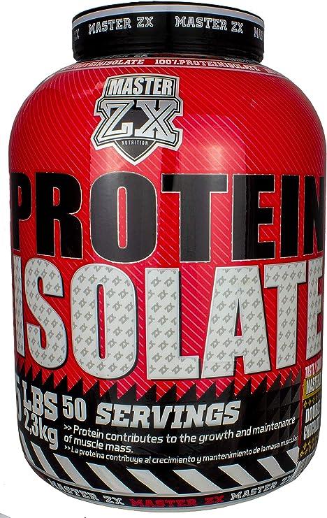 PROTEINA WHEY ISO   Master ZX - 2,3 KG - PROTEINA ISOLADA   proteína en polvo, máxima pureza (Doble Choco)