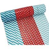 PsmGoods® Dekorative Washi Klebeband 10 Rolls bunten DIY Sticky Masking Klebeband (Wellenpunkt Rot)