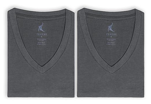850ae683c Texere Men's V-Neck Luxury Undershirt - Bamboo Viscose 2 Pack Tee ...