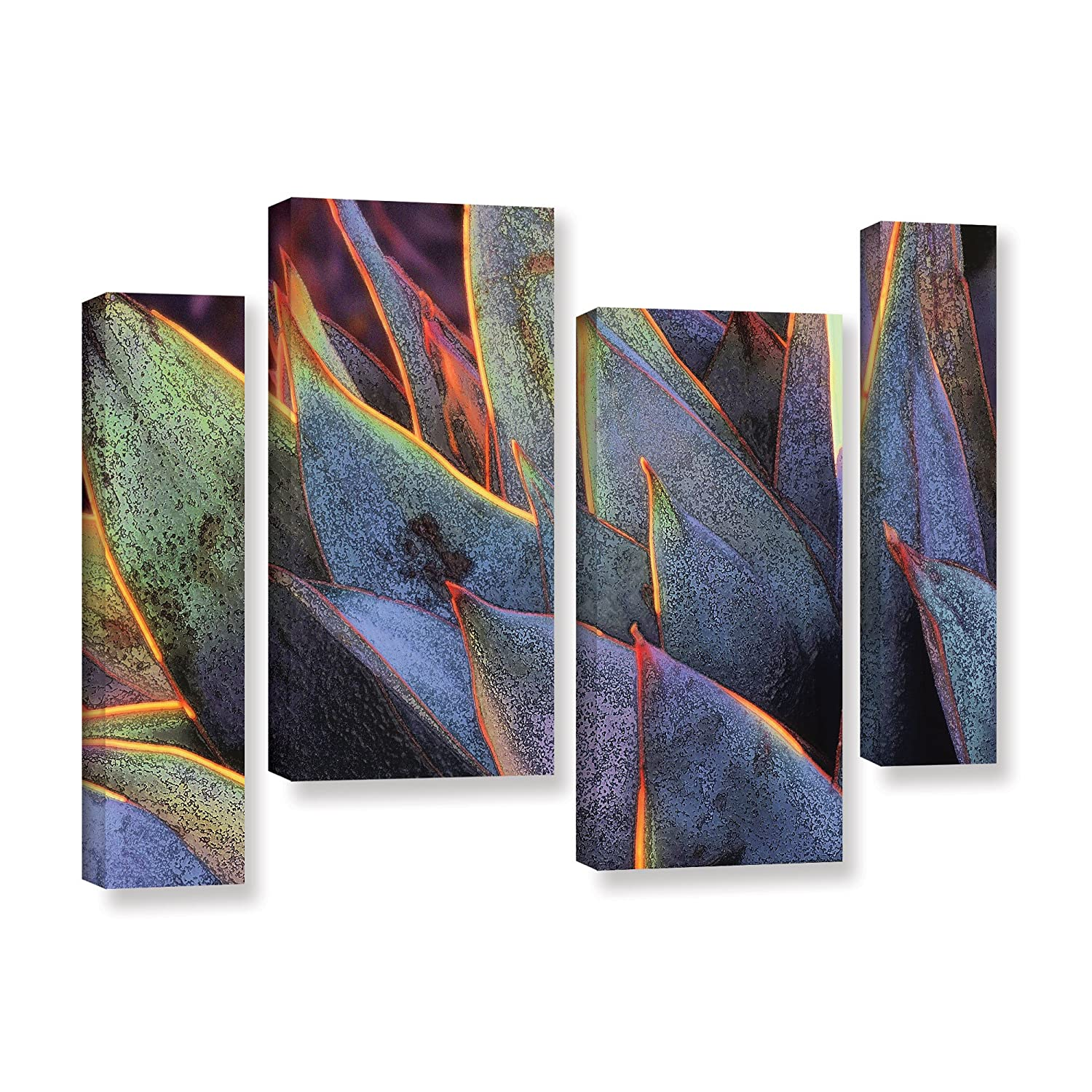 ArtWall Dean Uhlinger 4 Piece Sun Succulent Gallery-Wrapped Canvas Staggered Set 24 by 36