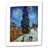 ArtWall Country Road in Provence by Night by