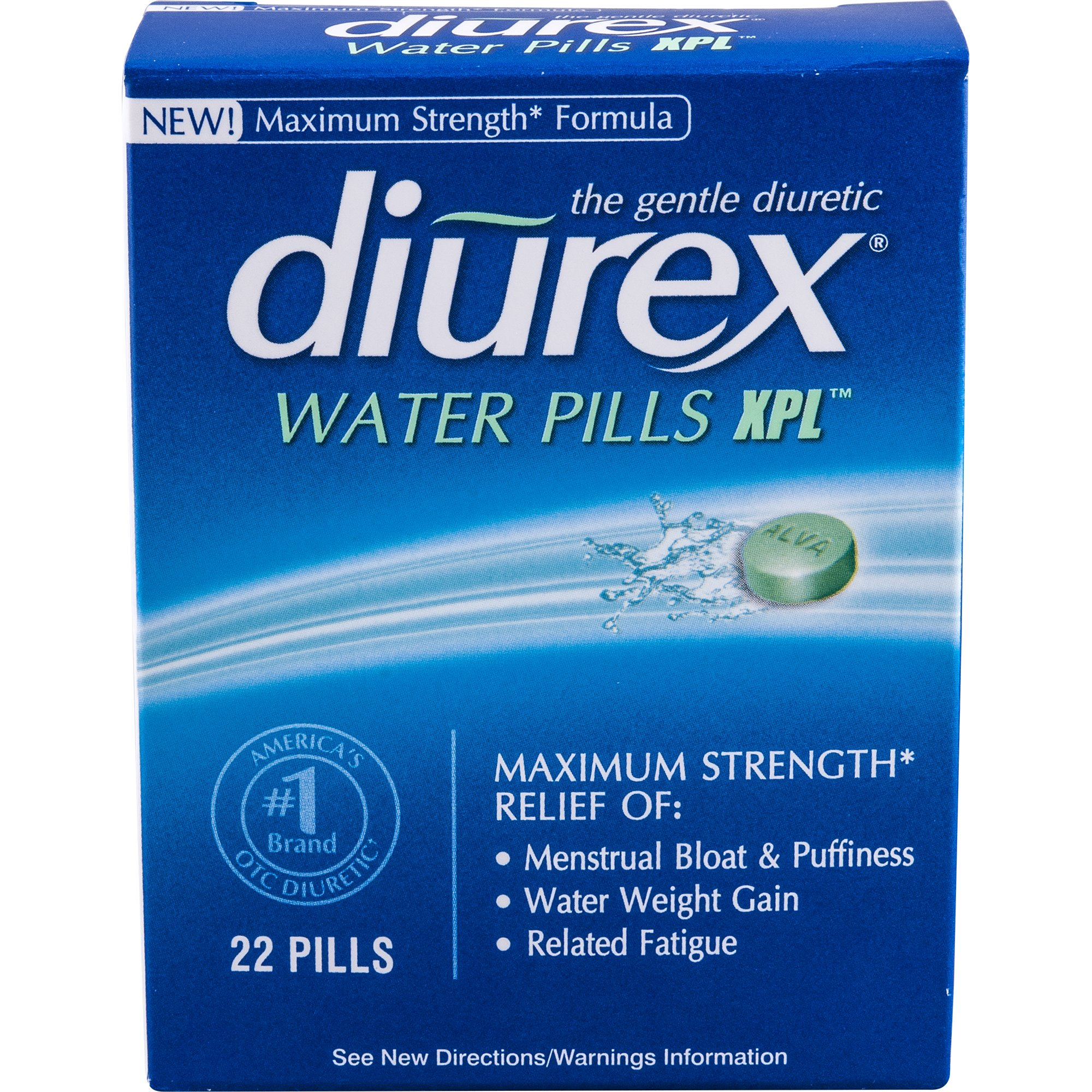 Diurex Water Pills, 22 Count Pack of 6)