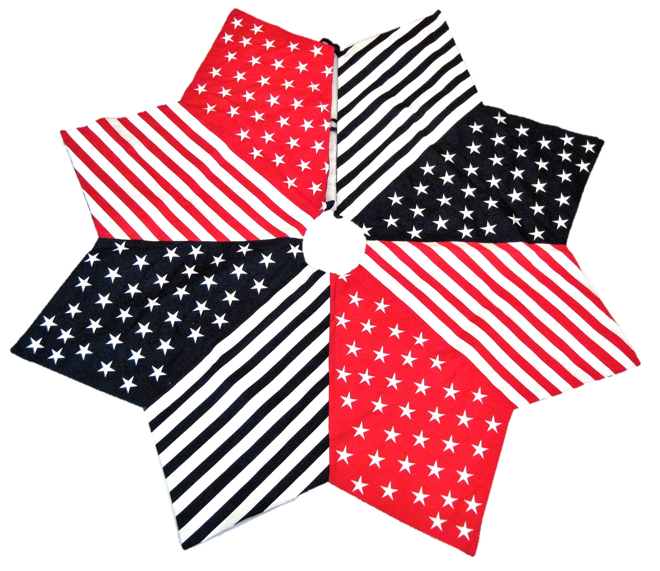 Trimsetter Red White and Blue Patriotic Christmas Tree Skirt