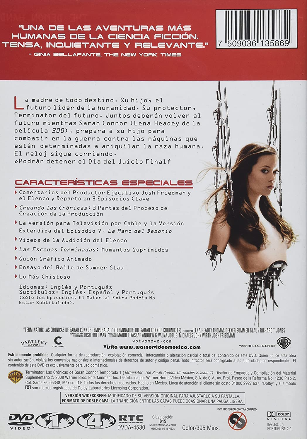 Amazon.com: TERMINATOR. LAS CRONICAS DE SARAH CONNORS / TEMPORADA 1 / DVD: Movies & TV