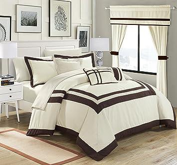 20 piece comforter set king Amazon.com: Chic Home Ritz 20 Piece Comforter Set Color Block Bed  20 piece comforter set king
