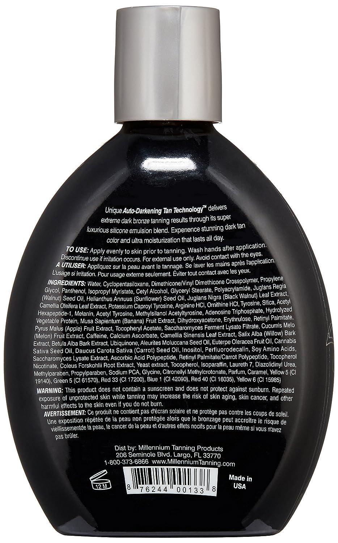 LOT of 2 Millennium PAINT IT BLACK 50X Bronzer Indoor Dark Lotion Tanning Bed